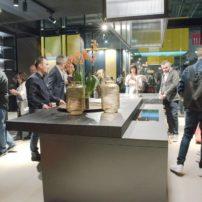 Concealment countertop — open, shows cooktop