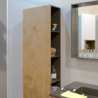 Concealed storage for the bath — closed