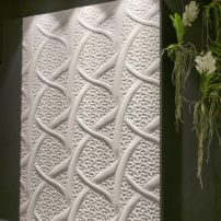 Textured tile walls are trending — by Petra and available at Statements Tile in Seattle