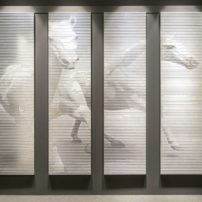 Customizable tile panels by Petra available at Statements Tile Seattle
