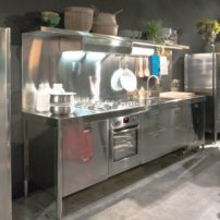 Movable feast — portable plug-and-play self-contained one-wall kitchen