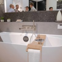One-walled free-standing bath by Victoria and Albert
