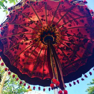 Parasol decoration at Ubud temple
