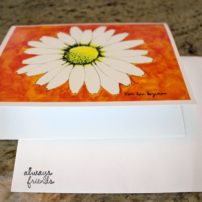 One of Cary Bozeman's pieces of stationery, featuring art by Keri, his wife.