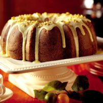Cranberry-Beet Bundt Cake with Orange-Walnut Glaze