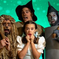 "The ""The Wizard of Oz"" cast: Emily Fox as Dorothy, Matty McCaslin as Cowardly Lion, Shane Patrick Hoffmann as Scarecrow and Jon Payne as Hickory/Tinman (Photo courtesy Derek Villanueva)"
