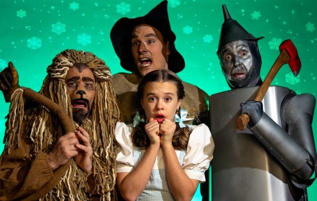 "The ""The Wizard of Oz"" cast: Emily Fox as Dorothy, Matty McCaslin as Cowardly Lion, Shane Patrick Hoffmann as Scarecrow and Jon Payne as Hickory/Tinman (Photo courtesy Derek Villanueva)"
