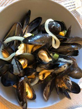 Belgian mussels, a popular dish