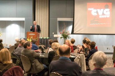 Brad Miller speaking at the CVG reception at the Kitsap Conference Center