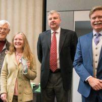 Brandy Agun, Best of Show, with Alan Newberg, Brad Miller and Bremerton Mayor Greg Wheeler