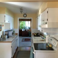 The old kitchen was a pass-through with no room