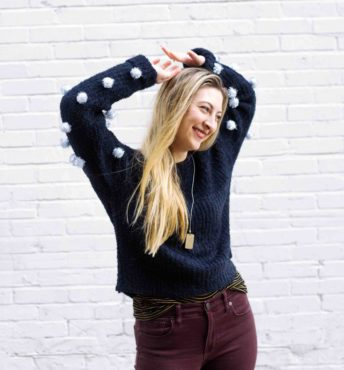 LightWorkers Pom-Pom Sweater