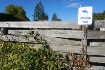 The store hitching post at Southworth Grocery