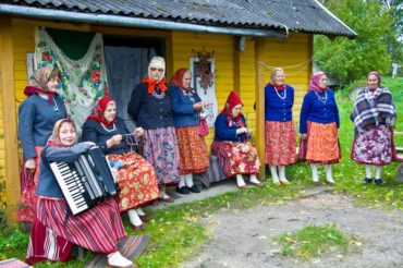 Estonia, an iconic destination for international travel. This women's music and dance group is from the Estonian island of Kihnu. (Photo courtesy Travel Estonia)