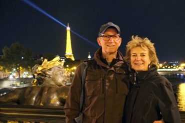 Locals Brenda Prowse and husband Hugh Nelson are enjoying themselves in Paris. (Photo courtesy Hugh Nelson)