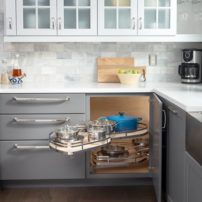 Base cabinet corner swingout by Hardware Resources