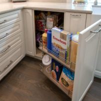 Base blind-corner cabinet by Magic Corner (Photo courtesy A Kitchen That Works LLC)