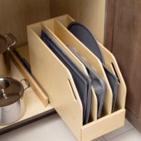 Base cabinet slide-out tray divider (Photo courtesy Dura Supreme Cabinetry)