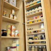 Door-mounted spice rack (Photo courtesy Dura Supreme Cabinetry)
