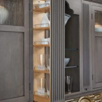 Pullout slim wall pantry by Rev-A-Shelf
