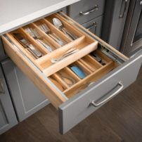 Double cutlery drawer insert by Hardware Resources