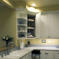 Wall cabinet lazy susan (Photo courtesy A Kitchen That Works LLC)
