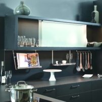 Backsplash rail system by Hafele