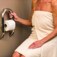 Combination tissue holder and grab bar by Invisia
