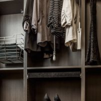 Pull-down closet hanging rod and shoe rails by Hardware Resources