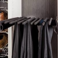 Pull-out pant rack and shoe rack by Hardware Resources