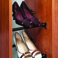 Adjustable synergy shoe rail by Hafele