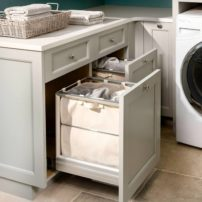 Pull-out laundry hamper by Rev-A-Shelf (Photo courtesy Galina Coada)