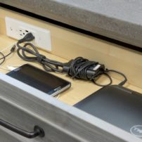 In-drawer charging station (Photo courtesy Dura Supreme Cabinetry)