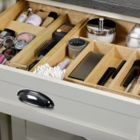Vanity drawer organizer (Photo courtesy Dura Supreme Cabinetry)