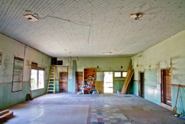 Restoration efforts are under way to bring the hall back to its original state.