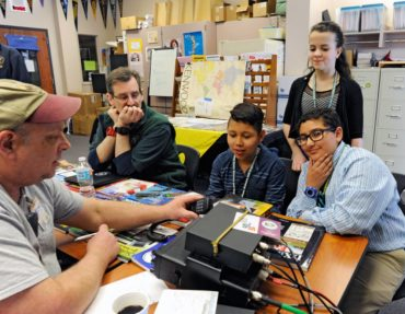 Kitsap County Amateur Radio Club members gave the opportunity to the public to talk worldwide on HAM radios at the WSSEF.