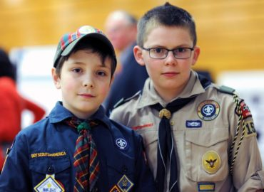 Local scouts with projects at the fair