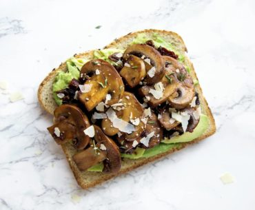 Sautéed Mushroom and Sun-Dried Tomato Avocado Toast