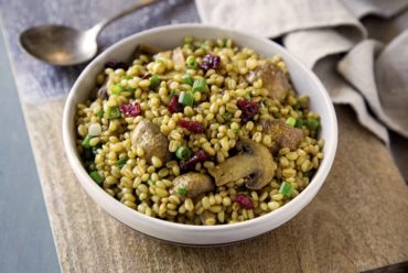 Roasted Mushroom and Wheat Berry Salad