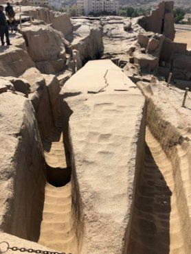 Aswan granite quarry and abandoned 137-foot obelisk