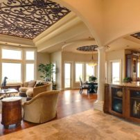 Decorative ceiling treatment by Tableaux Decorative Grilles
