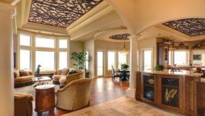 Decorative ceiling treatment by Tableaux Decorative Grilles