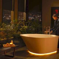 Veil lighted tub by Kohler