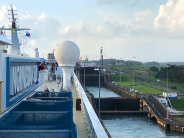Entering the locks at Gatun