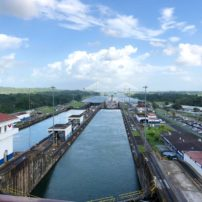Inside the Gatun Locks
