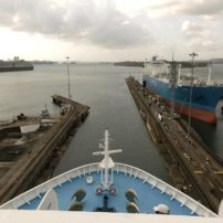 Exiting Gatun Locks