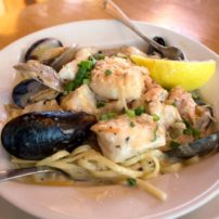 Shrimp and crab linguini