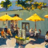 """Summer on Madrona Lane,"" oil painting by Millard Davidson of Davidson Studios"