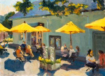 """Summer on Madrona Lane,"" oil painting by Millard Davidson of Davidson Studios"