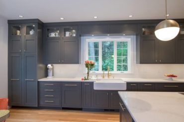 Painted inset cabinetry